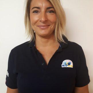Isabelle Paulet, secrétaire générale d'Esprit Sud Sevens, l'association de rugby à 7, pour illustrer sa présentation de staff