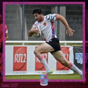 Image de Franck Lopez, Joueur à Esprit Sud Sevens, En pleine action lors d'un match de rugby à 7, pour illustrer son portrait