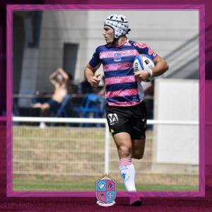 Image de Vincent Ferrer, Joueur à Esprit Sud Sevens, En pleine action lors d'un match de rugby à 7, pour illustrer son portrait