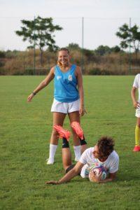 Ines Sancho au Sevens Summer Camp
