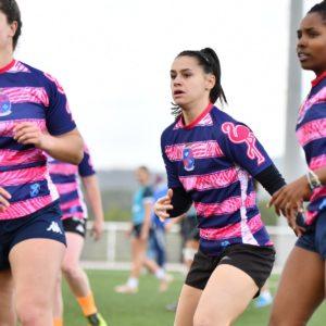 Équipe féminine d'Esprit Sud Sevens en moment de cohésion lors d'un tournoi de Rugby à 7 organisé par l'association de Sevens Esprit Sud Sevens. Rejoins nous